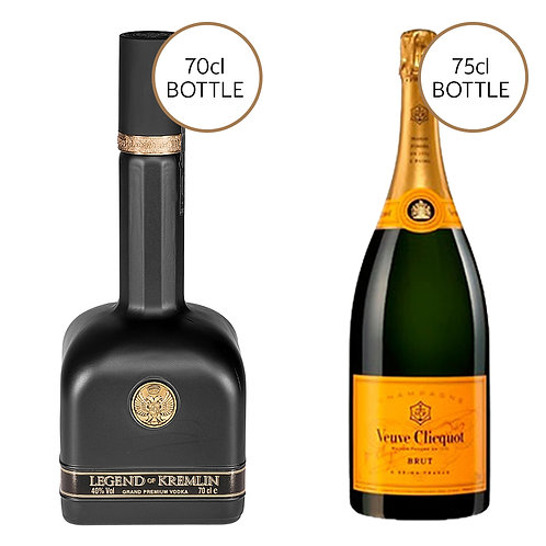Legend of Kremlin Black & Veuve Clicquot