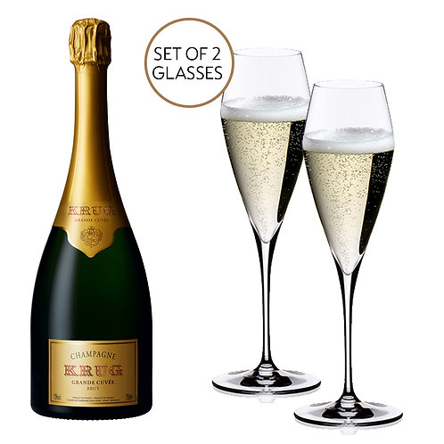 Krug Grande Cuvée & Riedel Vitis Glasses