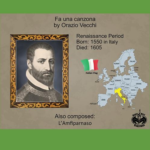 Module 1 for Choir - Vecchi: Fa una canzona