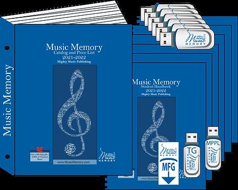 Premium Teacher Flashdrive w/Print Binder +6 Student Handbooks w/FDs (22)