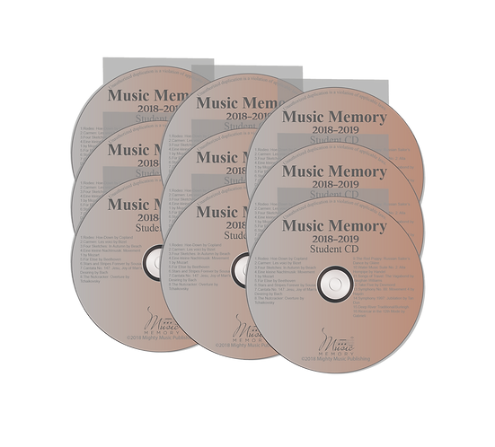 Set of 9 Student Practice CDs