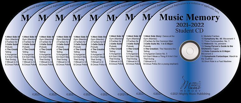 Set of 9 Student Practice CDs (22)