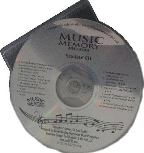 2014-2015 MM STUDENT PRACTICE CD (disc only)