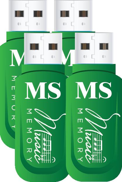 2017-2018 MS Set - 4 Student Practice Flash drives