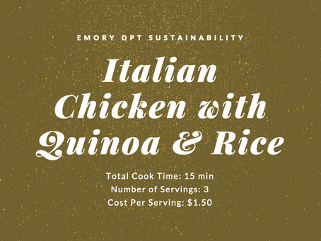 FIT Meals - Italian Chicken with Quinoa & Rice