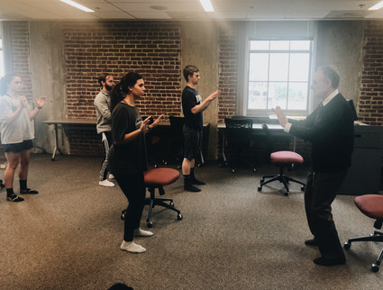 Dr. Wolf leads Tai Chi session in Emory School of Medicine