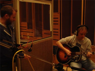Mark recording acoustic guitar