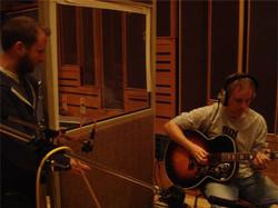 Mark recording acoustic guitar