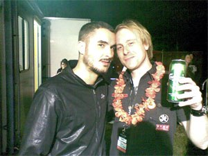 Mark Hamilton and Zane Lowe