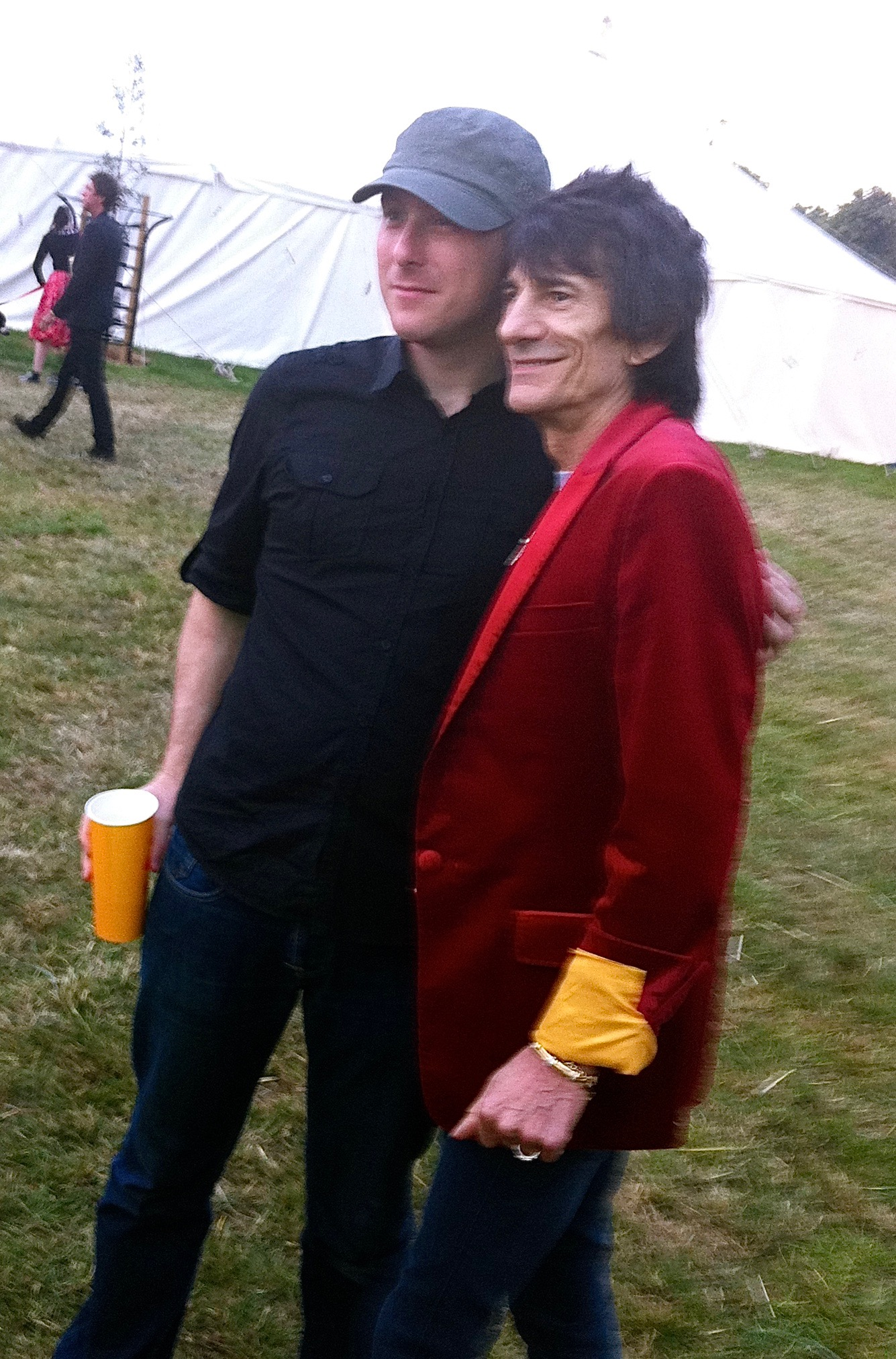 Mark Hamilton with Ronnie Wood