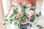 Classic all white Bride's Bouquet