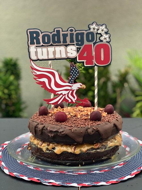USA Cake Topper