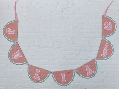 Watermellon Custom Name Banner