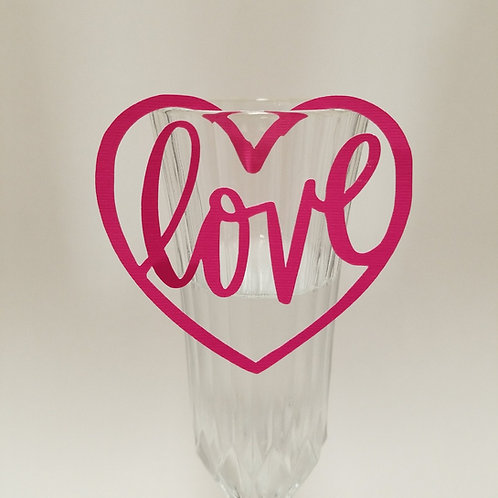 Heart Glass Tag