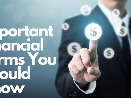 10 Important Financial Terms You Should Know As A New Investor