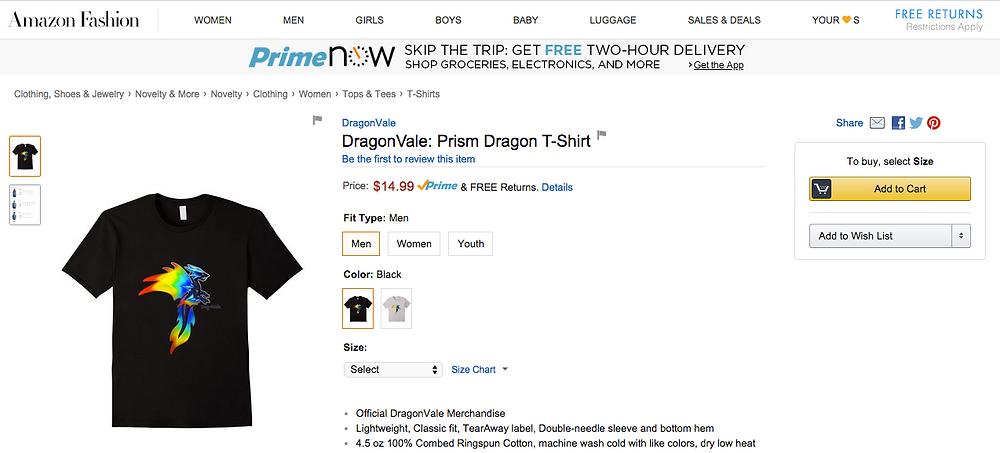 Amazon Merch Product Page