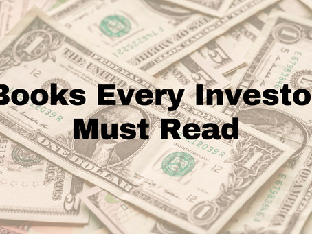 Books Every Investor Must Read - Part 1