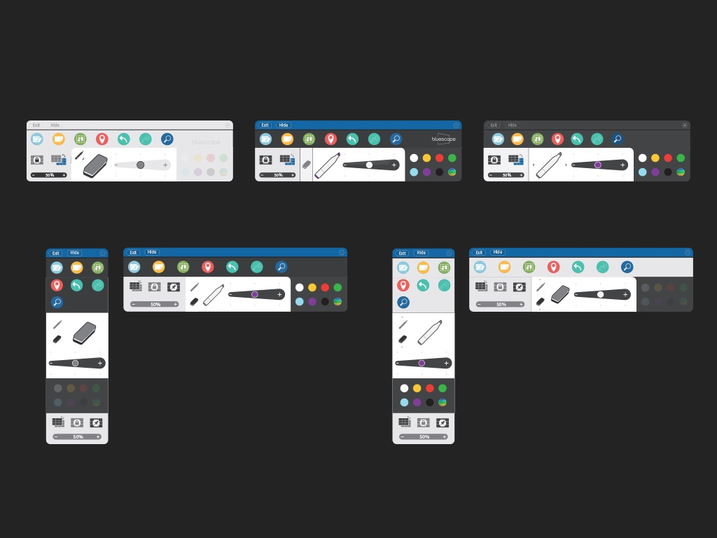 Toolbar iterations