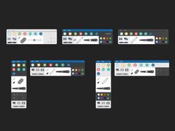 Toolbar iterations