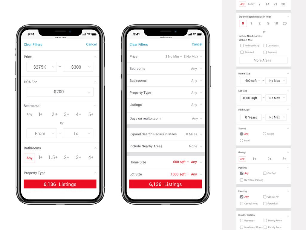 Filters in app