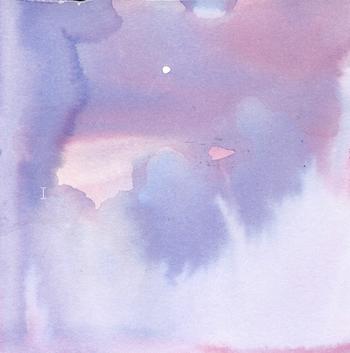 Luna y amanecer