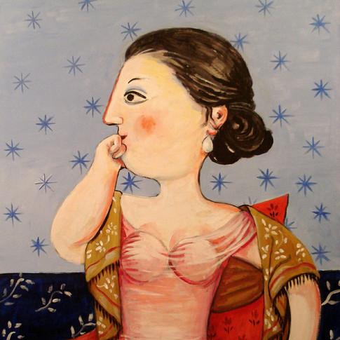 Mujer en butaca