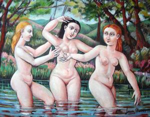 El baño de las Tres Gracias