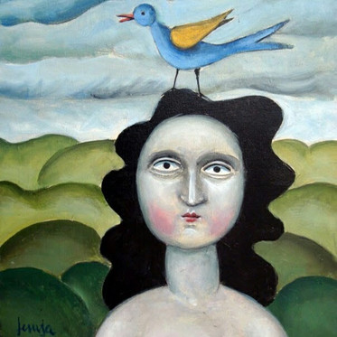 Mujer con pajarito