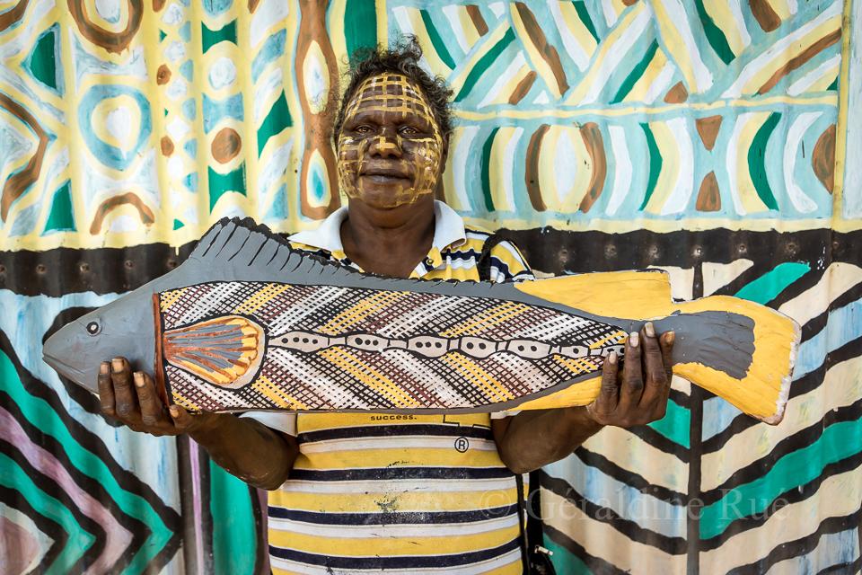 Artiste aborigène © Géraldine Rué