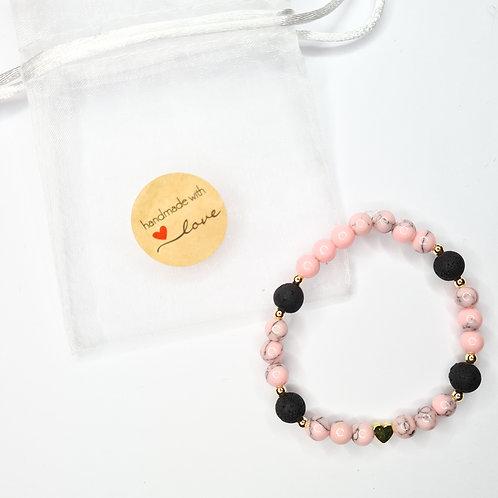 Armband #rosewithlava mit Lavastein
