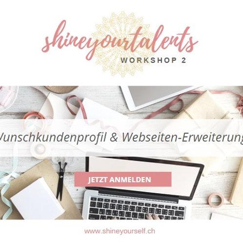 Workshop 2: Wunschkundenprofil + Webseiten-Erweiterung