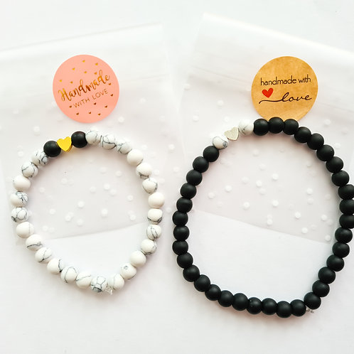 Partner-Armbänder #blackandwhite