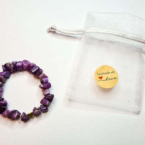 Armband #violetta mit Amethyst