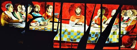 Eglise l'Alpe d'Huez vitraux d'Arcabas