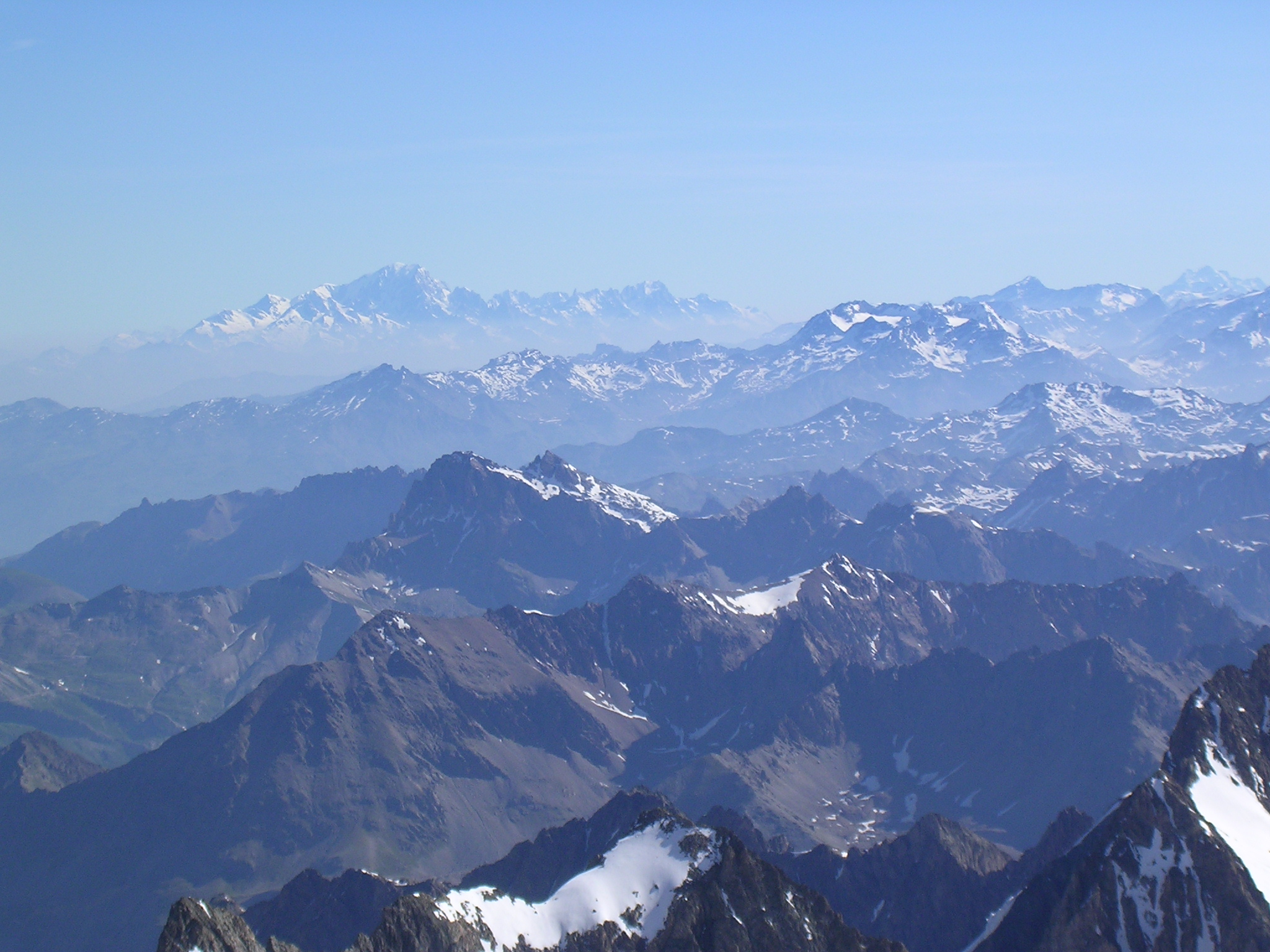 Le Mont Blanc vu depuis les Ecrins