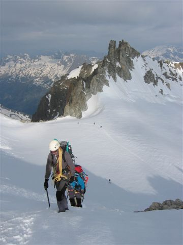 Marche sur glacier