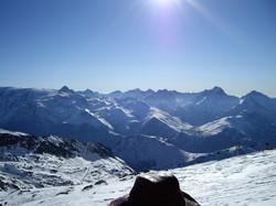 Les 2 Alpes vue depuis la piste Le clocher de macle