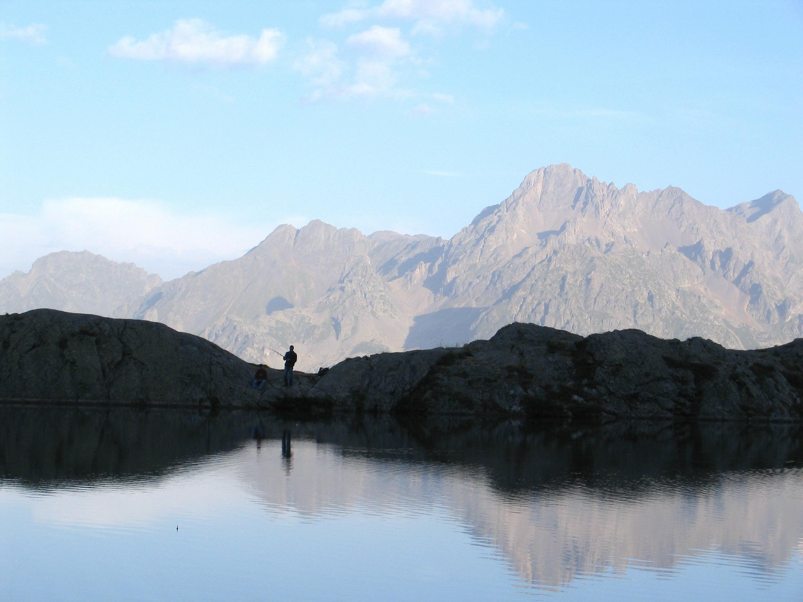 Pêche à la truite au lac Besson - Al