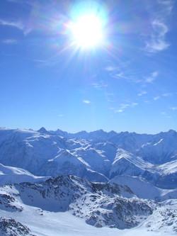 Les 2 Alpes vue du Pic Blanc
