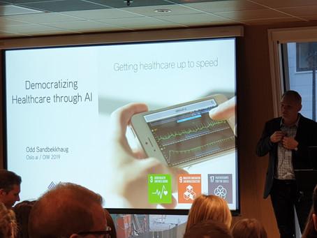 Infiniwell demonstrates realtime ECG analysis at Oslo.ai