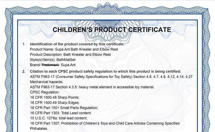 children product certificate.JPG