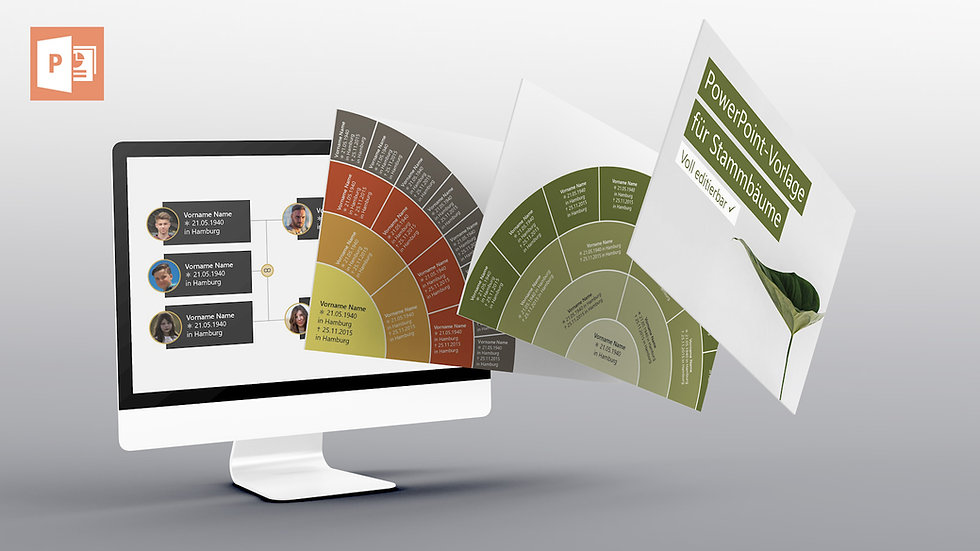 PowerPoint Template - Stammbaum