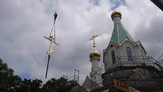 Над Страсбургом поднялся золоченый крест русского шатрового храма