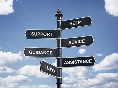 Help, support, advice, guidance, assista