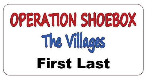Operation Shoebox Name Tag
