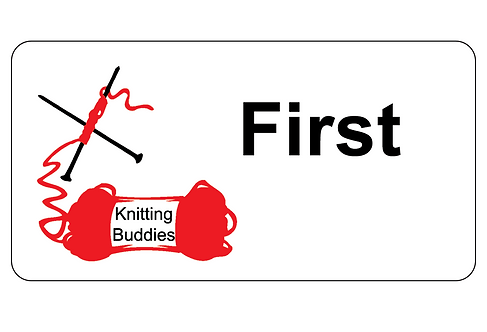Knitting Buddies Name Tag