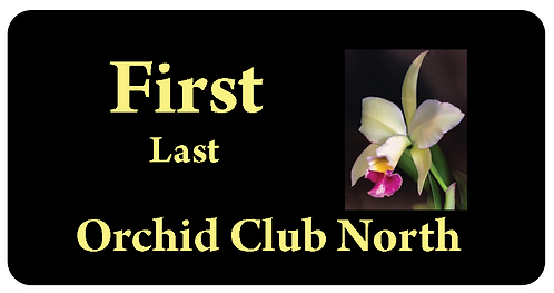 Orchid Club North Name Tag