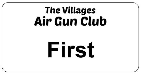 Villages Air Gun Club Name Tag