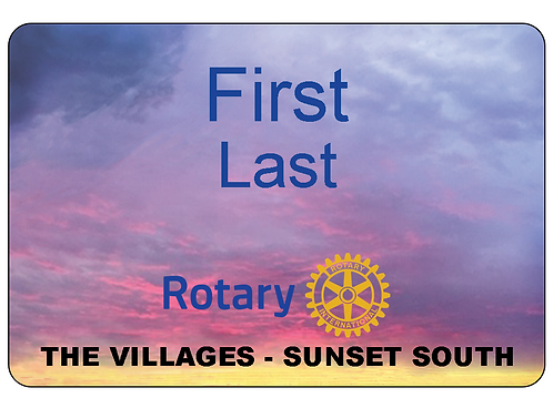 Sunset South Rotary Name Tag