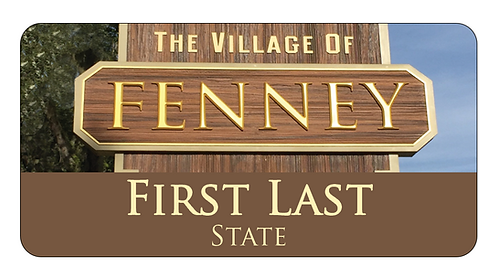 Village of Fenney Name Tag